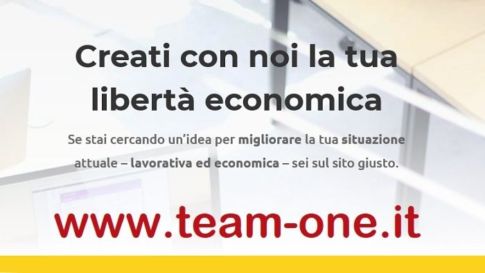 screenshot www.team-one.it